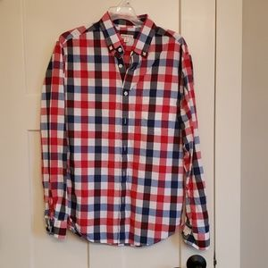 Mens Red. White and Blue Shirt